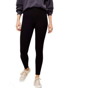 Loft Ponte Knit Leggings Black - Small Petite